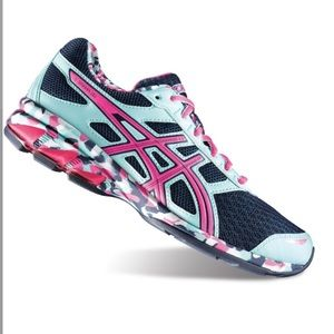 Asics Gel-Frantic 7 Sneakers Running Mint Pink Blu